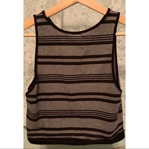 Forever 21 Tops - Sleeveless Striped Crop Top